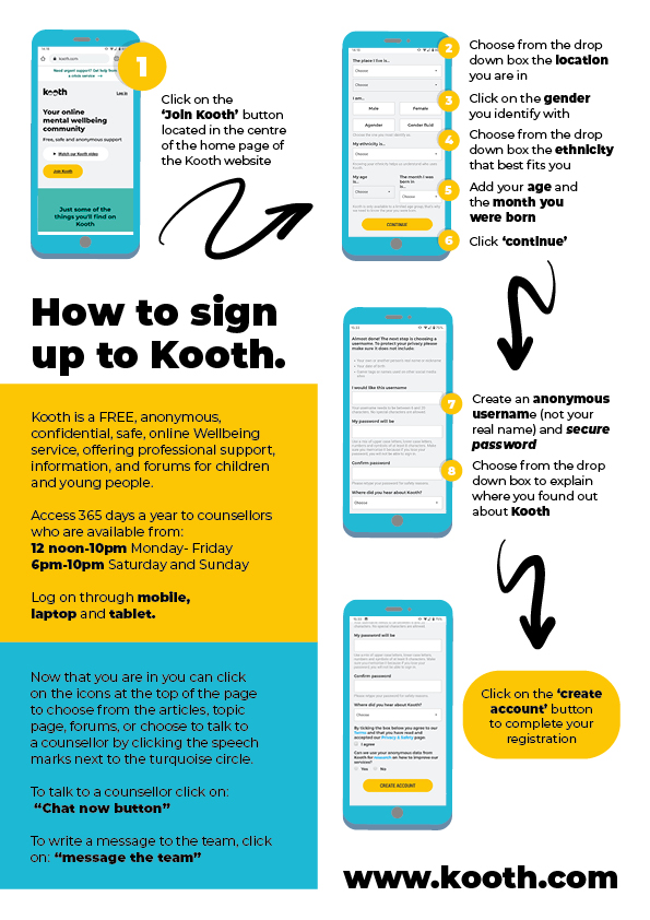 Kooth mental health service for young people